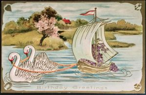 Swan Boat in the Park by Yesterdays-Paper