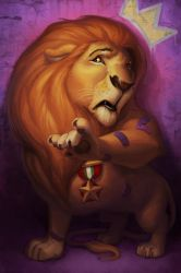The Cowardly Lion by JessiBeans