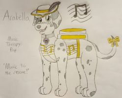 Arabella the Music Therapy Pup by ArtyJayWolf