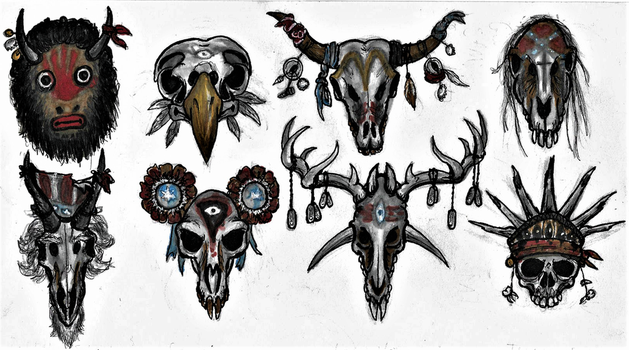 Cult of Mesogog masks by Tsnophaljakarax