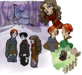 Deathly hallows characters 2 by Sally-Avernier