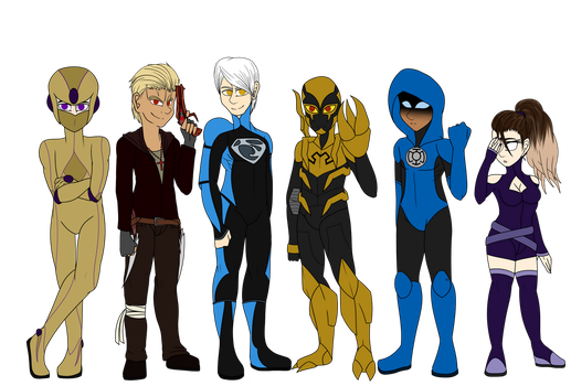 FanMade DC Heroes Team by Strickplayer