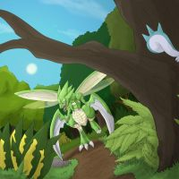 scyther is hunting