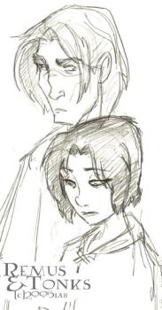 Emo Remus and Tonks -HBP by lberghol