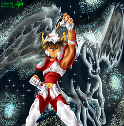 Seiya De Pegaso Lineless by MaryDKidd