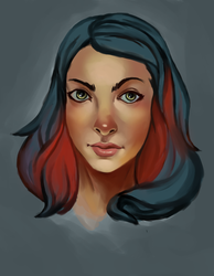 Portrait from tutorial by Colorstormu