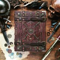 Grand Grimoire of pirates - wedding guestbook by MilleCuirs