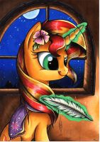Candlelight - Sunset Shimmer by yellowrobin