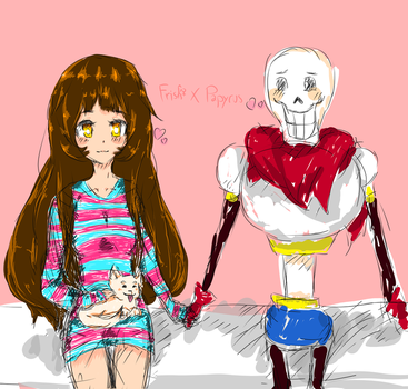 Sketch Frisk and Papyrus Dating by Rynkka