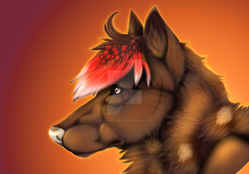 Realism head shot commission by SolarXolverite