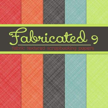 Free Fabricated 9: Fabric Textured Papers by TeacherYanie