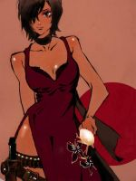 Ada wong-What will you do then?- by hinayume