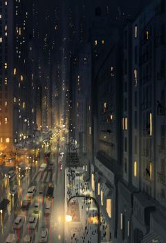 Sunday night in New York. by PascalCampion