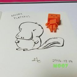 A doodle a day - The Angry platypus by Merc007
