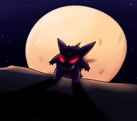 I am the Shadow on the Moon at Night by Inika-Xeathis