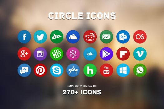 Circle Icons Pack by Martz90
