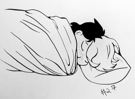 Inktober #27: Blanket burrito by pinearts