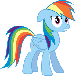 Concerned Rainbow Dash by delectablecoffee