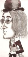 John Lennon Cartoon by PabloSSB