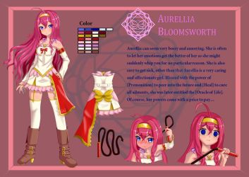 Aurellia Bloomsworth - Character Design by CylicaINA