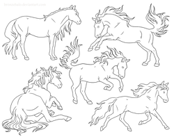 Free Lineart Pack by BronzeHalo