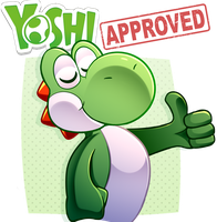 Yoshi APPROVES!! by LucarioOcarina