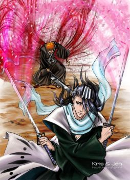 Bleach. The bloody wings. by jen-and-kris