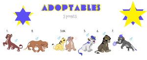 !!!ADOPTABLE!!! - Lion Cubs - 3 Points - OPEN! by nothinghere90