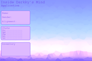 Inside Darkky's Mind Application by LucidNaturae