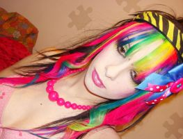 Rainbow Fringe Hair by CandyAcidHair
