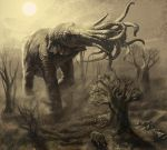 Cthonian Elephant by sonofamortician
