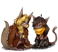 Tyra and Kinessa :3 by winterout1