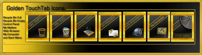 Golden TouchTab Icon Pack 2 by EffECKTz