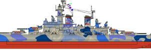 Oceanic Navy County Class Battleship by Lapeer