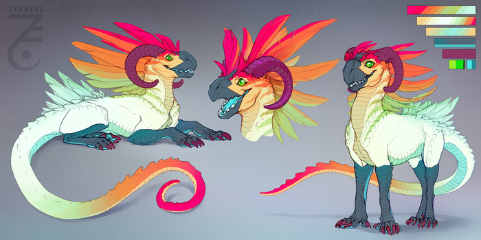 Colorful Bird Beast [Closed] by Zyraxus