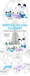 Winter Plush Charms Sewing Pattern by SewDesuNe