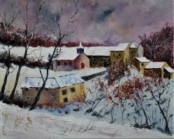 Snow in Houroy by pledent