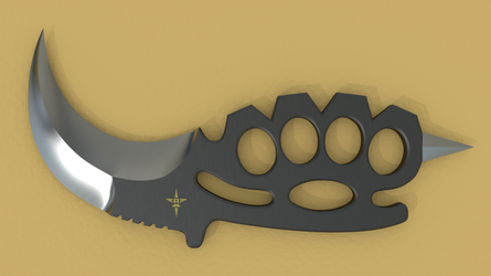 KBK (Karambit Brass Knuckles) View 1 by Shadow696