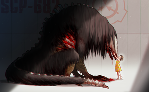 SCP-682 and SCP-053 by gatch-lv1