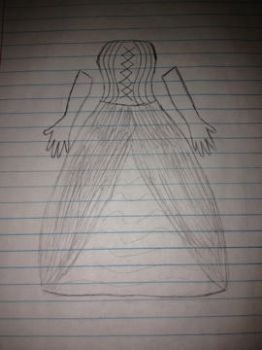 Dress Sketch 1 by Makes-Wishes