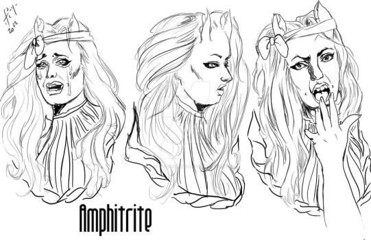 Amphitrite facial expressions by Lady-Alessandro