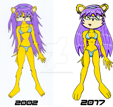 Mina swimsuit comparison by grimdragon2001