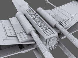 3D X-Wing WIP shot 2 by Subodai