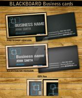 BLACKBOARD BUSINESS CARD TEMPLATE by Hotpindesigns