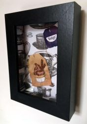 Chocolate Cream Cup Cake Embroidered on a Tea Bag. by silverscape