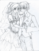 Wedding Picture Commission Uncolored by EmBeRNaGa