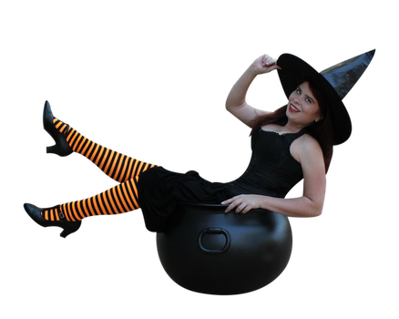 Witchy Pinup Precut Stock 1 by MelHeflin