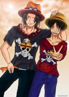HeartlessPrincess01 Ace and luffy by HeartlessPrincess1