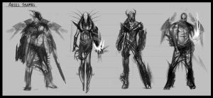 Aries Thumb Concepts by GeorgeLovesyArt