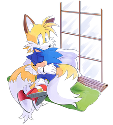 COMM: Tails and Sonic by Drawloverlala